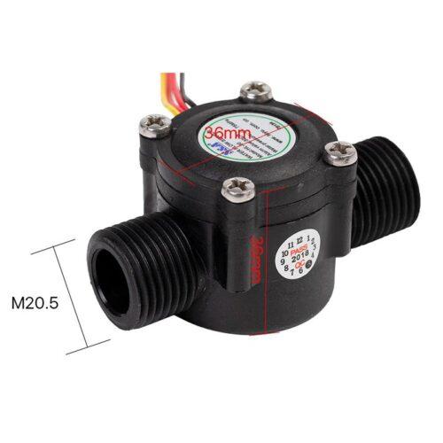 ابعاد سنسور جریان آب مدل HL-30