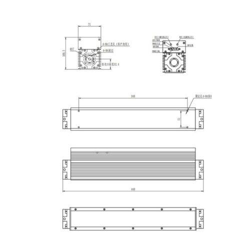 ابعاد لیزر RF مدل N-10