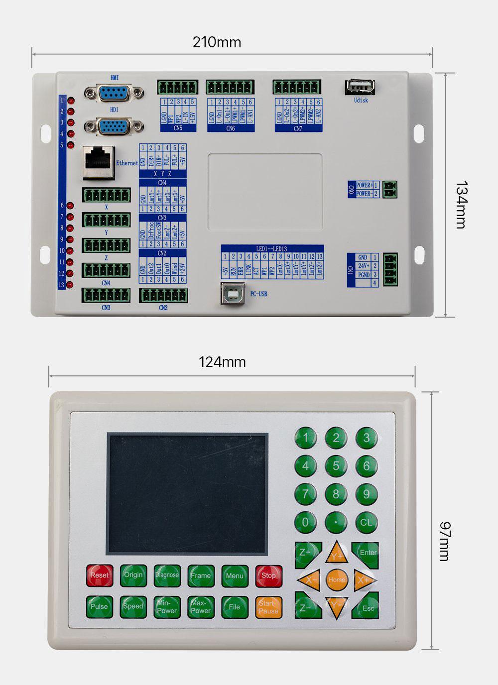 ابعاد مادربرد RDC6332G