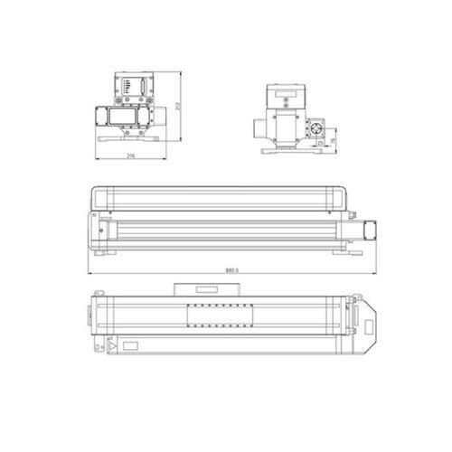 ابعاد کلی لیزر RF مدل Q-300